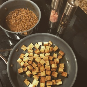 Tofu and Farro..work in progress